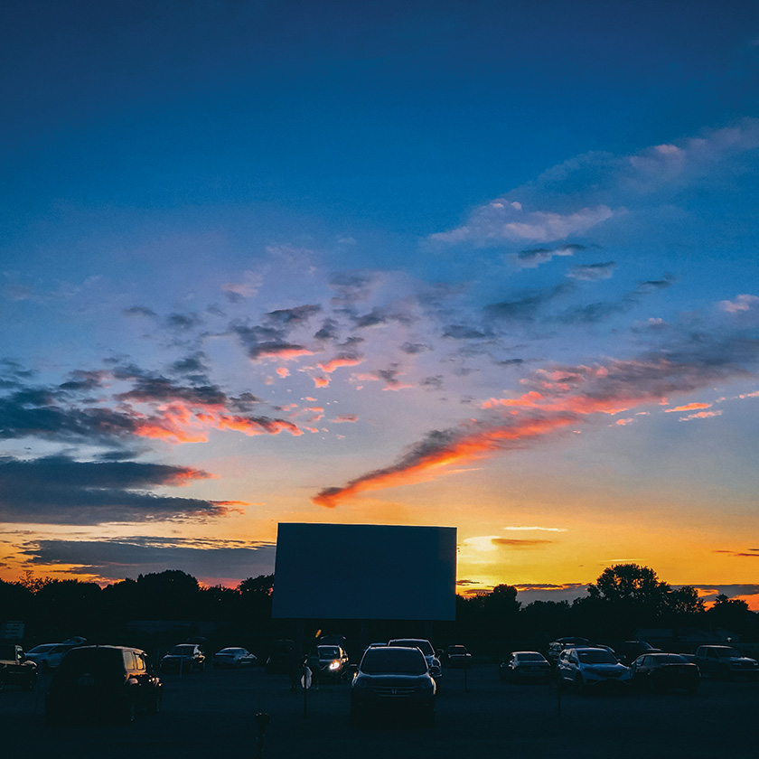 Drive-in Movie at Dusk
